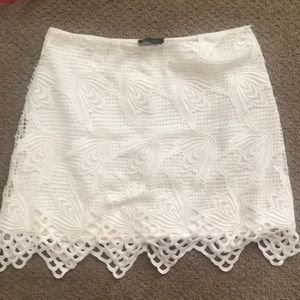 ASTR the Label lace crochet skirt